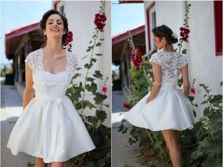 Robes de mari�e courtes