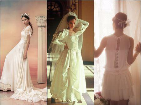 L'évolution de la robe de mariée à travers le temps