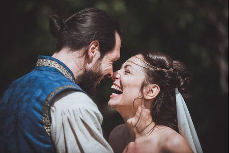Mariage médiéval : Nathalie et Florent en Nobles Seigneurs d'un autre temps