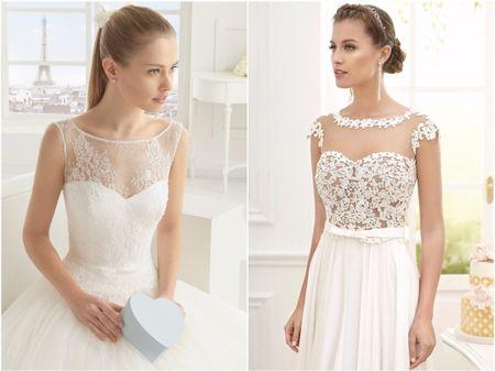 30 robes de mariée avec décolleté voilé qui vont vous faire craquer