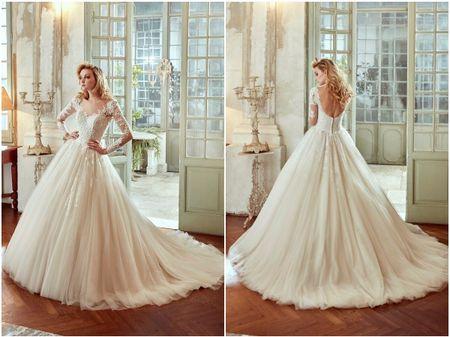 10 robes de mariée Nicole 2017 coupe princesse