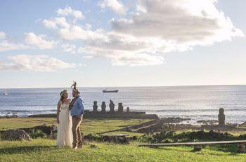 Natalia et Marcelo : un mariage intime à Rapa Nui, l'Île de Pâques