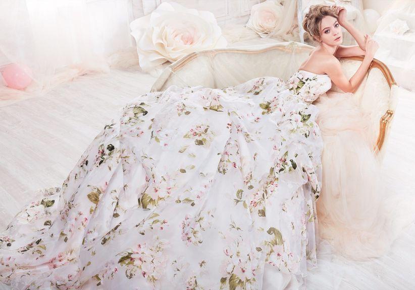 Robe pour mariage fleurie