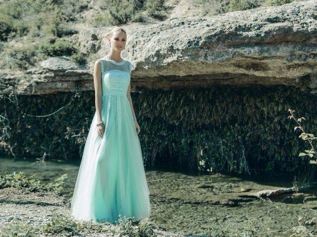 35 robes de soirée couleur aigue-marine pour les mariages d'été