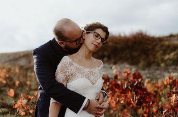 Tendre et romantique : le mariage d'automne de Marion et Raphaël