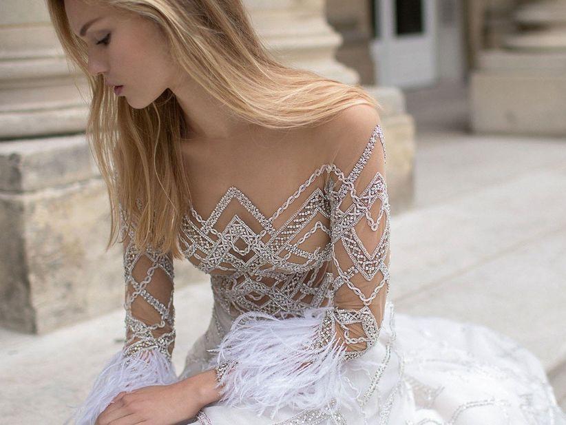50 Robes De Mariée Avec Plumes En Petite Touche Ou Total