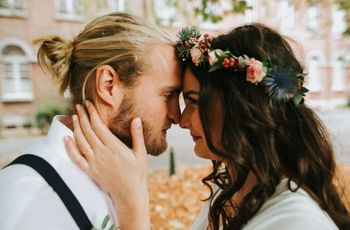 Beau, branché et familial, ainsi fut le mariage d'automne de Julie et Arnaud !