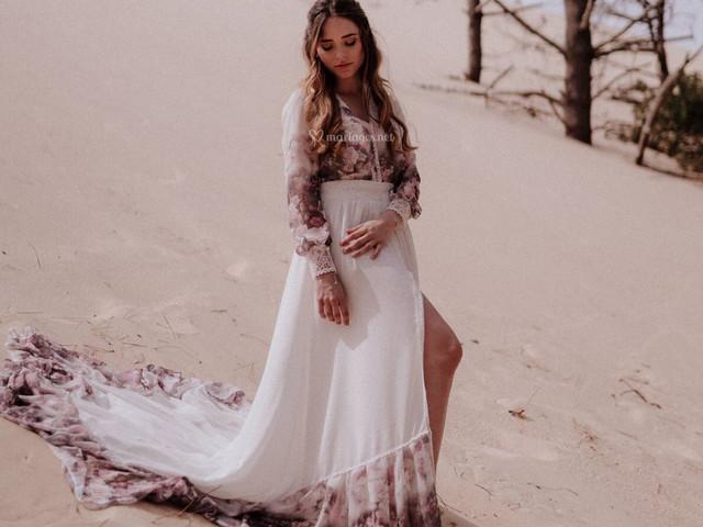 Les robes de mariée à imprimés artistiques : un look oeuvre d'art !