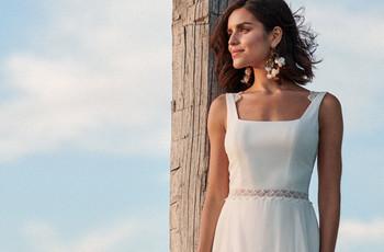 45 robes de mariée au décolleté carré : tendance 2021 incontournable !