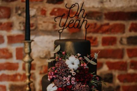 Wedding cake sombre, une bonne idée ? 7 cas où la réponse est oui !