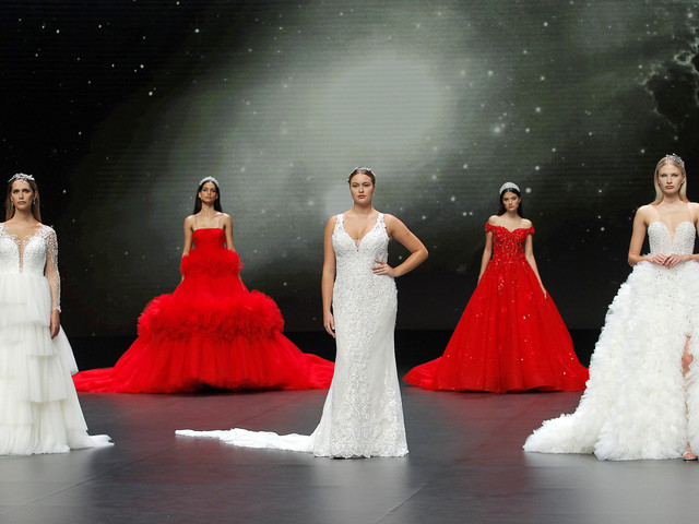 Demetrios : or et paillettes pour la collection de robes de mariée 2021