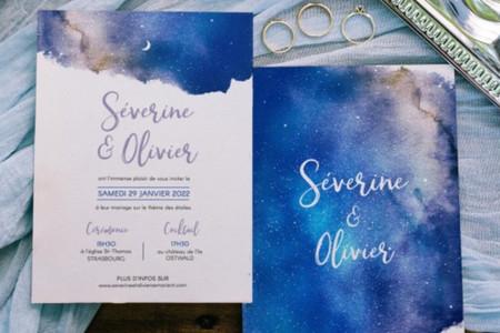 Faire-part de mariage et papeterie pleins d'étoiles