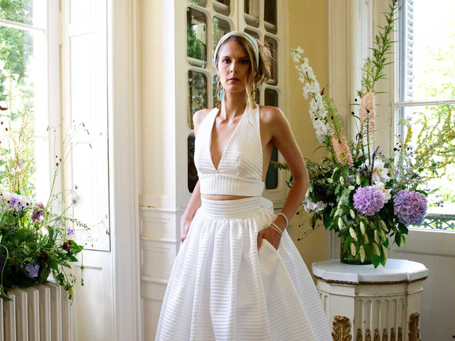 Atelier Manon Pascual 2021 : une collection de robes de mariée rétro-chic nommée Couture