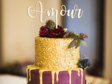 40 wedding cakes dorés : les plus glamours de tous les desserts