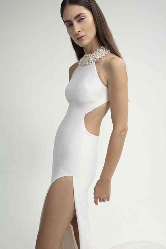 robe de mariée collier intégré