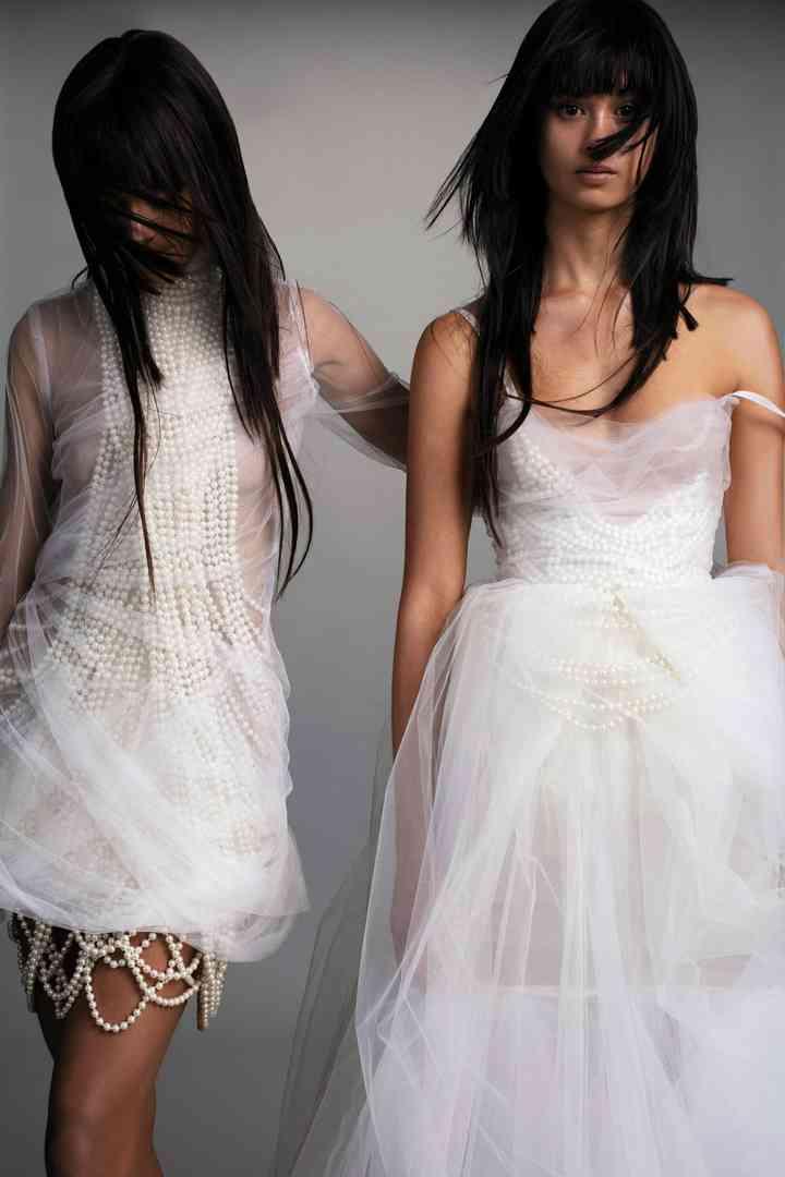 robe de mariée perles