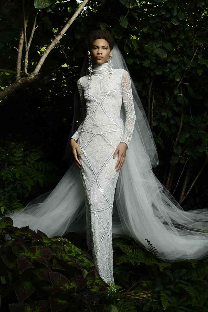 robe de mariée Art déco