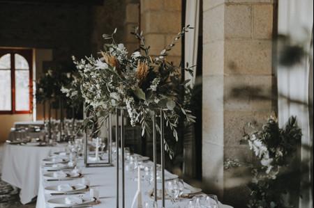 6 centres de table modernes pour votre réception de mariage