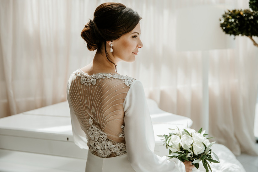 Robe de mariée dos bijou