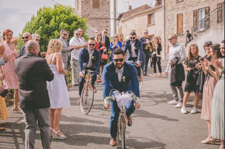 Le vélo en grand protagoniste des nouvelles animations de mariage