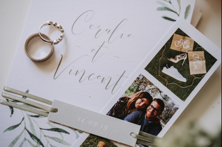 Faire-part photo : 25 invitations de mariage avec une illustration du couple