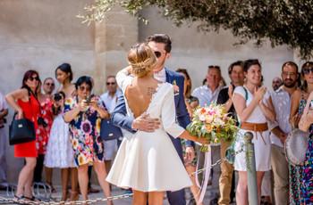 60 robes de mariée courtes pour un look estival sublime !
