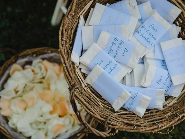 6 façons d'ajouter des paniers à votre décoration de mariage