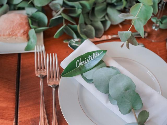 Marque-place végétal : 1 idée, 5 possibilités !
