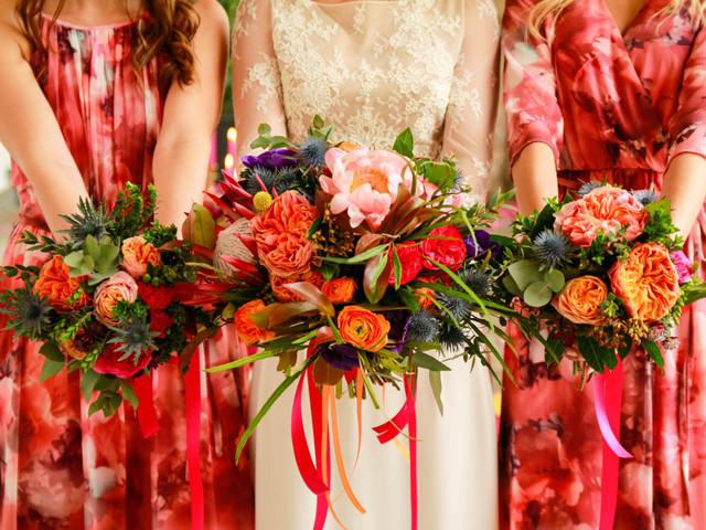 5 bouquets hors norme pour les demoiselles d'honneur