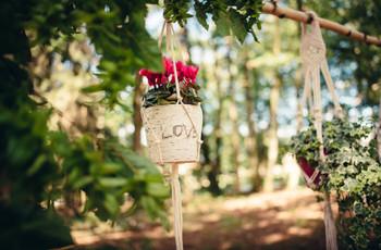 Plantes en pot à suspendre pour une belle déco de mariage