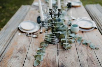 Plexiglas pour la déco de mariage : après le minimalisme, la transparence !