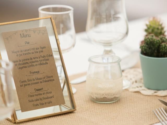 10 menus de mariage en papier qui ne manquent pas d'audace !