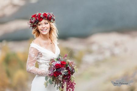 40 magnifiques couronnes de fleurs fraîches pour la coiffure de mariage