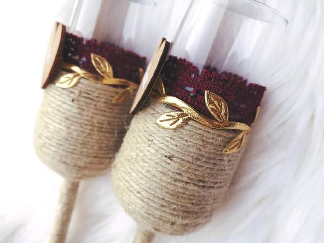 Flûtes de champagne personnalisées pour un vin d'honneur singulier