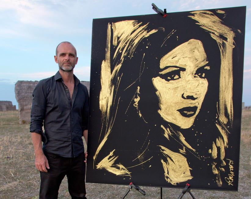 Portraits paillettes et couleurs par Michael