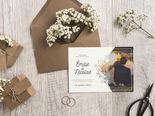 Faire-part de mariage 2021 : les modèles les plus tendances