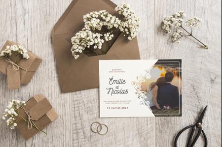 Les 35 modèles de faire-part de mariage 2021 les plus tendances