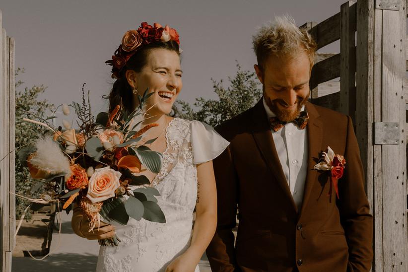 costume mariage couleur chocolat