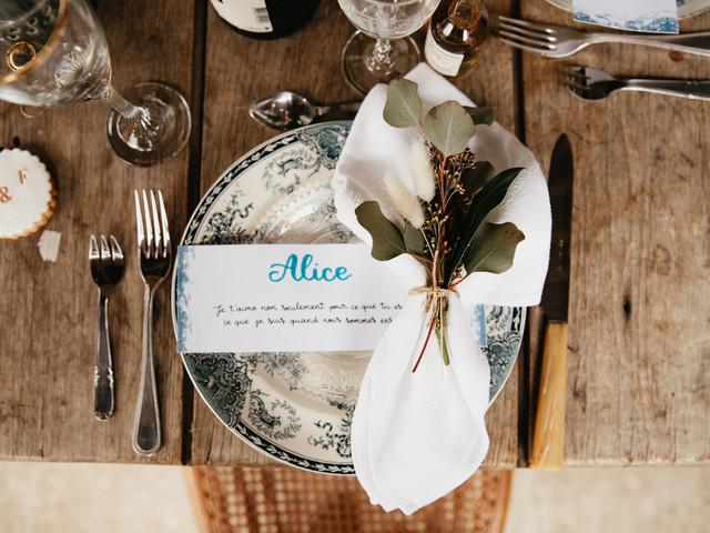 Marque-place personnalisé : 8 idées qui prouvent à vos invités que vous pensez à eux !