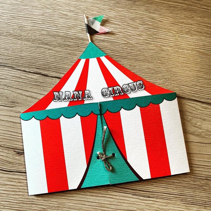 Faire-part cirque