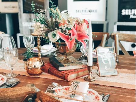 35 centres de table vintage pour votre mariage