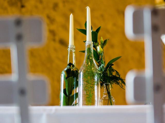 Plantes en bouteille : une nouvelle tendance de déco de mariage