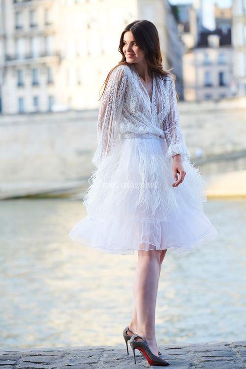 clématite / cortaderia, LK PARIS Couture