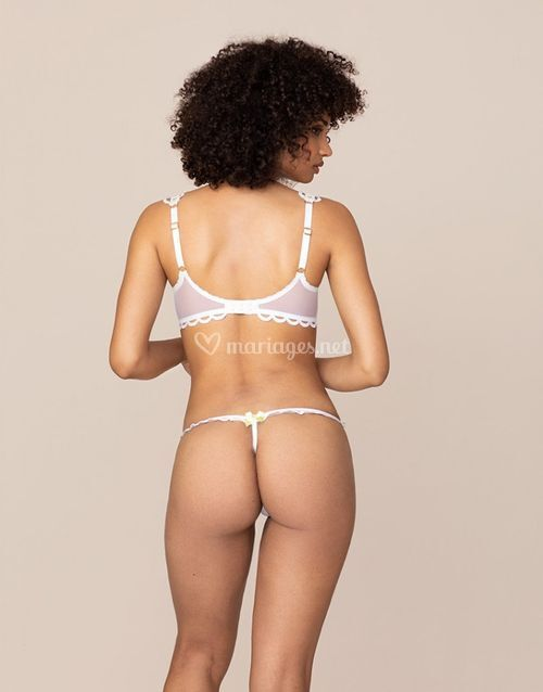 Laurelie Thong White and Lime, Agent Provocateur