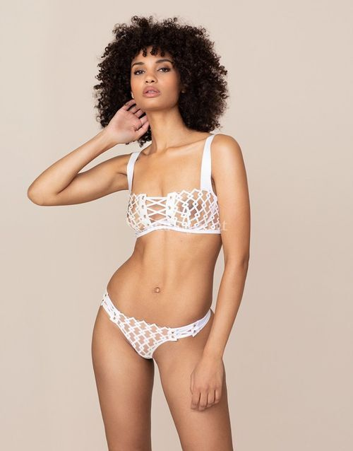 Kadra Thong White And Nude, Agent Provocateur