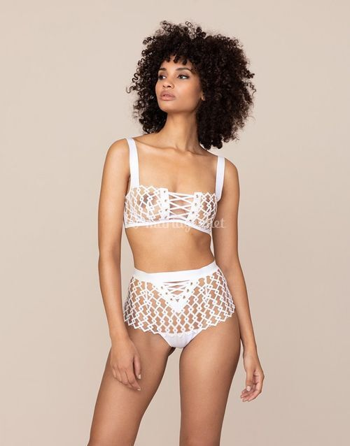 Kadra Big Brief White And Nude, Agent Provocateur