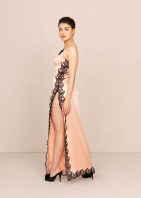 Amelea Long Slip Pink and Black, Agent Provocateur