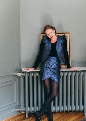 veste vogue bleu, Maison Guillemette