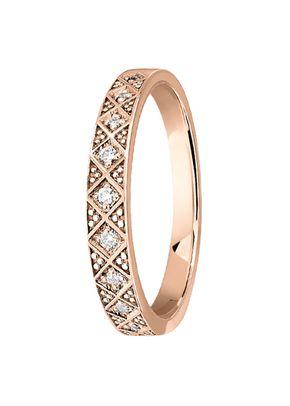 alliance ondine diamant or rose, OR DU MONDE