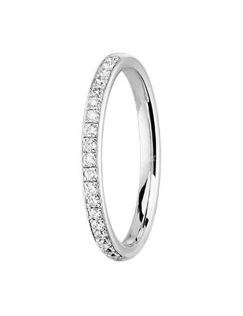alliance suki diamant 2 mm or blanc, OR DU MONDE
